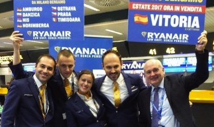 "Ryanair ""allarga"" la sua estate 2017"