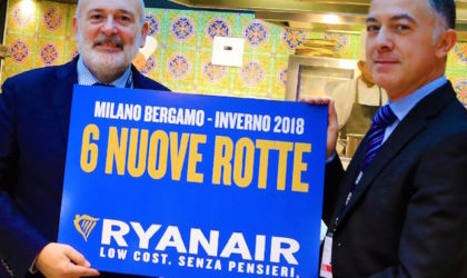 Ryanair presenta il suo inverno da Orio