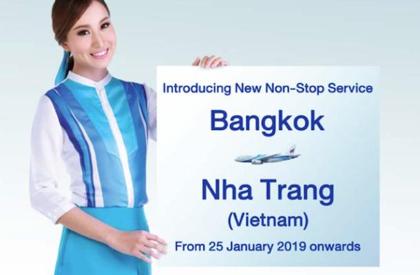 Bangkok Airways: volo non stop per Nha Trang