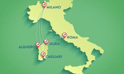 Alitalia conquista la Sardegna: sue tutte le rotte in continuità territoriale